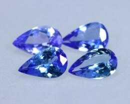 [4PCS Tanzanite] 3.13cts Natural D Block Tanzanite Lots Stone / KL1000