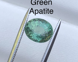 Green Color 2.35 ct lovely Apatite Ring Size