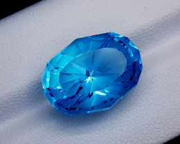 17.95CT BLUE TOPAZ PRECISION CUT BEST QUALITY GEMSTONE IIGC12