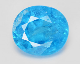 Neon Blue Apatite 3.04 Cts Un Heated Natural Loose Gemstone