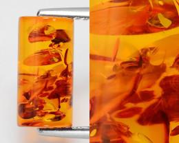 Baltic Amber 1.83 Cts Natural Golden Orange Color Gemstone