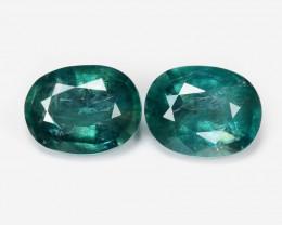 *NoReserve*Grandidierite 0.70 Cts 2Pcs Bluish Green Natural Gemstone