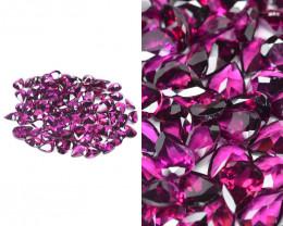 Umbalite Garnet 70.69 Cts 90 Pcs Unheated Calibrated Natural Purple Gemston
