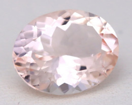 3.05Ct Natural Sweet Pink Morganite VVS Pink Beryl Madagascar A0117