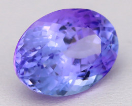 5.02Ct Natural Blue Tanzanite VVS Flawless Oval Master Cut A1812