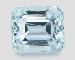 3.17 Cts Un Heated Blue  Natural Aquamarine Loose Gemstone