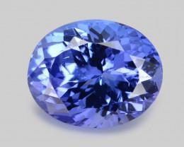 Tanzanite 4.16 Cts Amazing rare AA Violet Blue Color Natural Gemstone