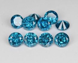Diamond 1.87 Cts 10 pcs Sparkling Rare Fancy Blue Color Natural