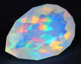 4.25Ct Ribbon Pattern Aurora Rainbow Rolling Flash Welo Opal B1814