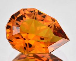 ~CUSTOM CUT~ 6.78 Cts Natural Madeira Orange Citrine Fancy Pear Brazil