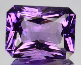~CUSTOM CUT~ 12.00 Cts Natural Purple Amethyst Fancy  OctagonBolivia