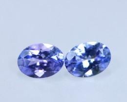 1.84cts Natural D Block Tanzanite Pairs Stone / KL1006