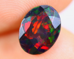 1.07cts Natural Ethiopian Faceted Smoked Welo Opal / KL1007