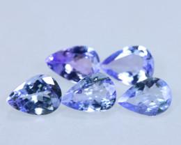 [5PCS Tanzanite] 2.85cts Natural D Block Tanzanite Lots Stone / KL1010