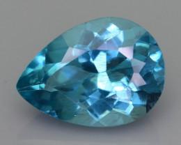 Rare 4.46 ct Amazing Luster Blue Apatite SKU.19