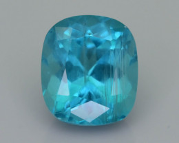 Blue Apatite 4.58 ct Paraiba Like Color with Rutile Crystals SKU.19