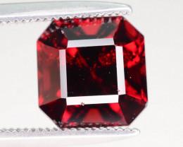 Pigeon Blood 3.30 ct Ascher Cut Red Garnet