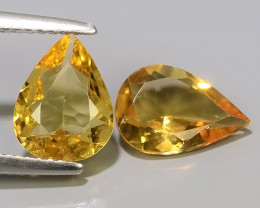 2.65 CTS AMAZING NATURAL RARE GOLDEN YELLOW BERYL PEAR GEM~~