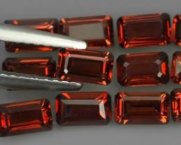 5.00 Cts_Marvelous octogon Natural Rhodolite_~Parcel 12 Pcs~Excellent!!