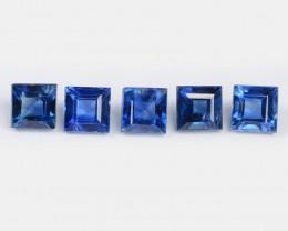 Sapphire 0.98 Cts 5 Pcs Amazing Rare Natural Fancy Blue Loose Gemstone