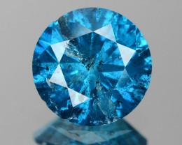 *No Reserve*Diamond 0.71 Cts Sparkling Rare Fancy Blue Color Natural