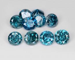 *NoReserve*Diamond 1.05 Cts 10 pcs Sparkling Rare Fancy Blue Color Natural