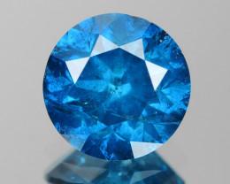 *No Reserve* Diamond 0.86 Cts Sparkling Blue Color Natural Diamond