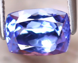 Tanzanite 1.55Ct Natural VVS Purplish Blue Tanzanite D2216/D3