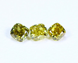 0.38cts NATURAL African Yellow Green Fancy Diamond Lots / KL1023