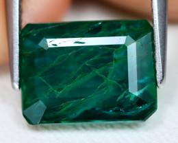 Emerald 3.21Ct Octagon Cut Natural Zambian Green Color Emerald A1906
