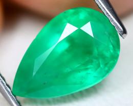 Emerald 2.26Ct Pear Cut Natural Zambian Green Color Emerald A1908