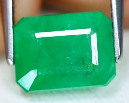 Emerald 2.30Ct Octagon Cut Natural Zambian Green Color Emerald A1909