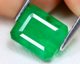 Emerald 2.22Ct Octagon Cut Natural Zambian Green Color Emerald A1912