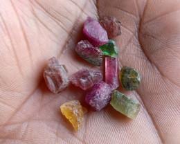 Natural Tourmaline Rough Parcel of 25 Ct Genuine Gemstones VA5048