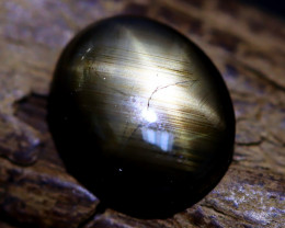 Star Sapphire 4.29Ct Natural Thailand Golden Black Star Sapphire B1912