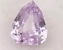 Pretty Pinkish Peach Fancy Trillion Cut Sapphire - Sri Lanka