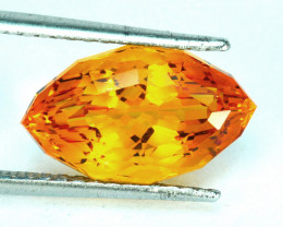 ~CUSTOM CUT~ 7.96 Cts Natural Golden Orange Citrine Fancy Marquise Brazil
