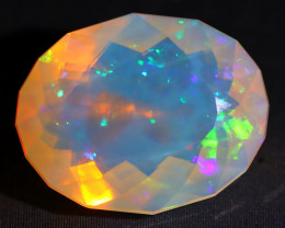 5.15Ct Patchwork Puzzle Pattern Rolling Neon Flash Welo Opal C1908