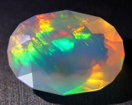 3.57Ct Fern Chaff Pattern Rolling Flash Rainbow Color Welo Opal C1910
