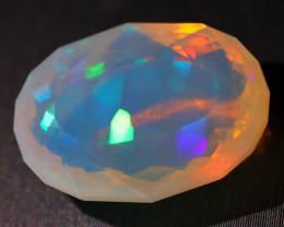7.07Ct Block Puzzle Pattern Rainbow Neon Flash Welo Opal C1913