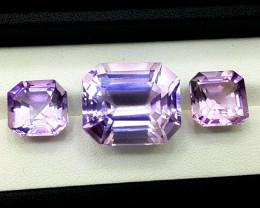 Amethyst Pair, 47.60 Cts Natural Top Color & Cut Amethyst Gemstones