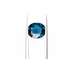 Natural Blue Tourmaline Round Shape Cut Stone