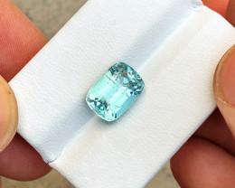 4.30 Ct Natural Blueish Transparent Tourmaline Gemstone