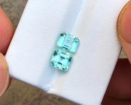 2.25 Ct Natural Blueish Transparent Tourmaline Gems Parcels