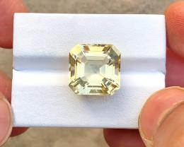 11.60 Ct Natural Yellow Transparent Citrine Gemstone