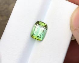 2.25 Ct Natural Greenish Yellow Transparent Tourmaline Gemstone