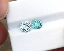 1.85 Ct Natural Blue & sea Foam Color Transparent Tourmaline Gemstones Parc