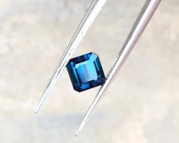 1.05 Ct Natural Dark Blue Transparent Tourmaline Gemstone