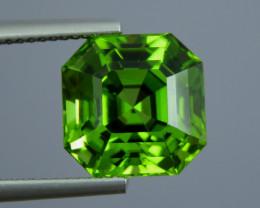 IF 7.90 CT Natural Beautiful Green Color Asscher Shape Peridot From Pakista