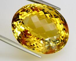 60.45 ct. 100% Natural Top Yellow Golden Citrine Unheated -IGE Certificat